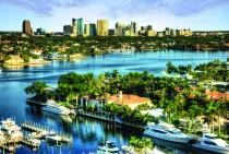 Fort Lauderdale's downtown CityScape Sunrise.