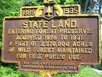 Forest Preserve Sign near Ticonderoga (John Warren Photo)