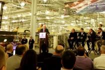 Governor Pence announces plans to expand the Chrysler plant in Kokomo. (Photo: City of Kokomo.)