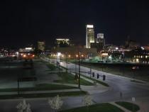 Downtown Omaha, Nebraska viewed from Hampton Inn at night. (Photo: Wikimedia Commons, the free media repository)