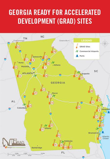Georgia GRAD map
