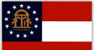 Georgia (GA) State Flag.