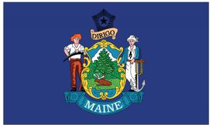 Maine (ME) State Flag.