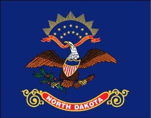 North Dakota (ND) State Flag.