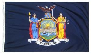 New York (NY) State Flag.