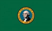Washington (WA) State Flag.