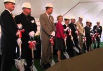 Executives at Fukai Toyotetsu Indiana Corporation (FTIC) break ground in Boone County, Indiana.