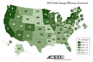ACEEE 2014 Scorecard Map.