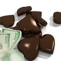 Chocolate and money.