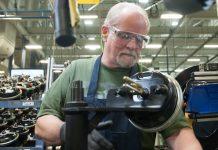 Bendix Spicer assembly line worker.