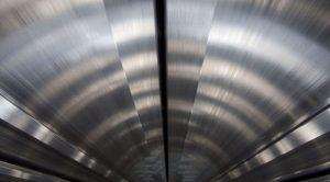 Aluminum tunnel.
