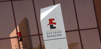 Eastman Business Park signage.