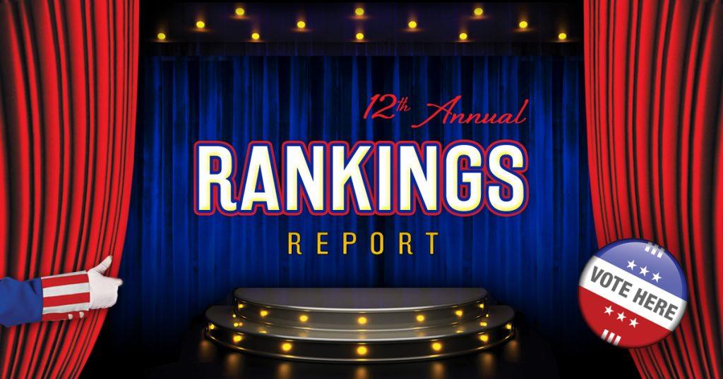 2016 state rankings